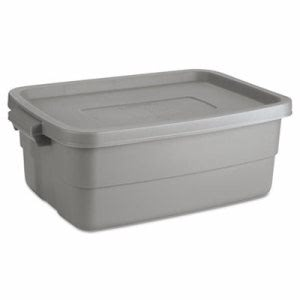 Rubbermaid Roughneck 10 Gallon Storage Box, Steel Gray (RHP 2214TP STE)
