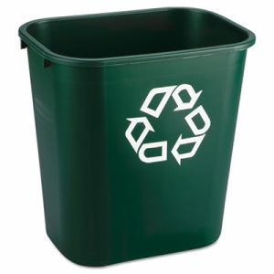 Rubbermaid 295606 Deskside 7 Gallon Recycle Can, Green, 12 Cans (RCP295606GRECT)