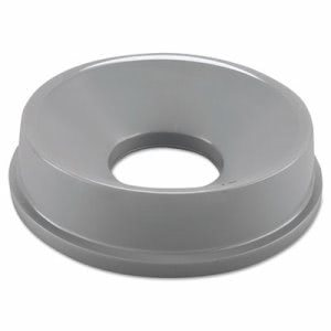 Rubbermaid 3548 Untouchable Round Funnel Top Trash Can Lid, Gray (RCP3548GRA)