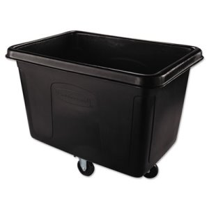 Rubbermaid 4614 Cube Truck, 14 Cubic Feet, Black (RCP4614BLA)