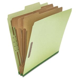 Universal Classification Folder, Letter, Eight-Section, Green, 10/Box (UNV10291)