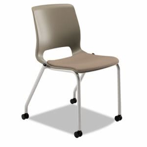 Hon Motivate Seating Upholstered 4-Leg Stacking Chair, Shadow/Morel/Platinum, 2/CT (HONMG201CU24)