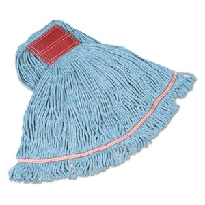 Rubbermaid C153 Swinger Loop Wet Mop Heads, Blue, Large, 6 Mops (RCPC153BLU)