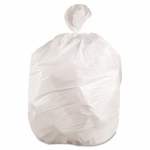 45 Gallon White Garbage Bags, 40x46, 0.7mil, 100 Bags (JAG VW4046X)