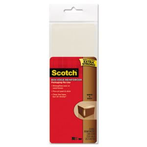 Scotch Scotch Box Edge Reinforcer, 3 x 8, Clear, 8/Pk (MMMRUER8)