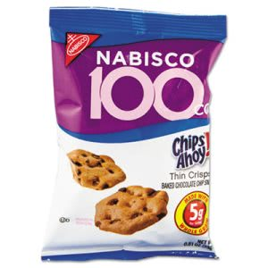 Nabisco 100 Calorie Chips Ahoy Chocolate Chip Cookie, 6 Packs/Box (CAH610)