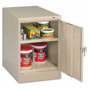 "Tennsco 30"" High Single Door Cabinet, 19w x 24d x 30h, Putty (TNN1824PY)"