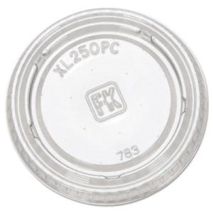 Fabri-kal Portion Cup Lids, Fits 1.5-2.5oz Cups, Clear (FABXL250PC)