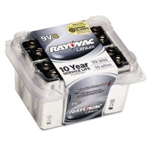 Rayovac Lithium Batteries, 9V, 8/Pack (RAYR9VL8)