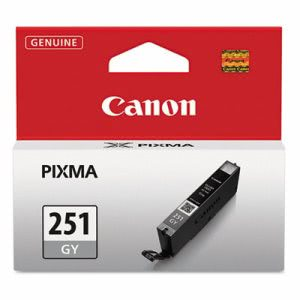 Canon Pixma Ink Catridge, 7 mL, Inkjet Printer, Gray, 1 Each (CNM6517B001)