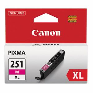 Canon 6450B001 (CLI-251XL), High-Yield Ink, 11 mL, Magenta (CNM6450B001)
