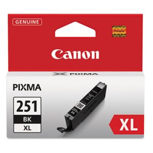 Canon 6448B001 (CLI-251XL), High-Yield Ink, 11 mL, Black (CNM6448B001)