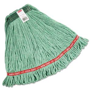 Rubbermaid A112 Web Foot Wet Mop Heads, Green, Medium, 6 Mop Heads (RCPA112GRE)