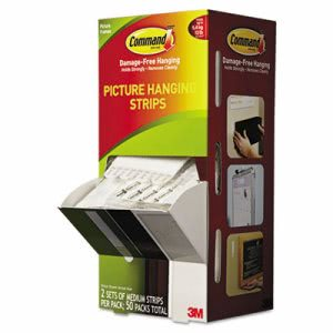 "Command Picture Hanging Strips, 3/4"" x 2 3/4"", White, 50/Carton (MMM17201CABPK)"