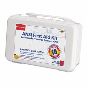 First Aid Only ANSI-Compliant First Aid Kit, 46 Pieces, Plastic Case (FAO238AN)