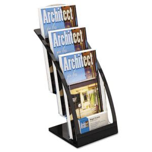 Deflect-o 3-Tier Leaflet Holder, 6-3/4w x 6-15/16d x 13-5/16h, Black (DEF693604)