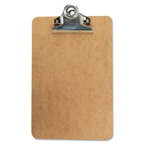 Universal Clipboard w/High-Capacity Clip, Holds 6w x 9h, Brown (UNV05610)