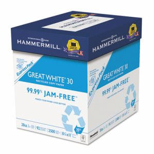 Hammermill Great White Recycled Copy Paper, 8-1/2 x 11, 2500 Sheets (HAM67780)
