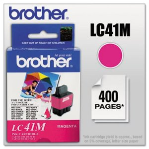 Brother LC41M Ink, 400 Page-Yield, Magenta (BRTLC41M)