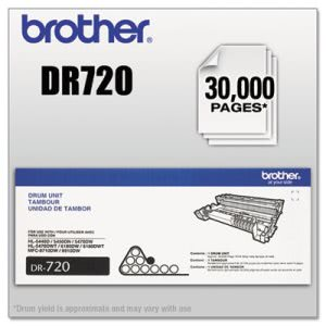 Brother DR720 (DR-720) Drum, 30000 Page-Yield (BRTDR720)