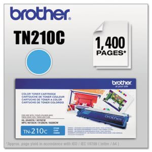 Brother TN210C Toner, 1400 Page-Yield, Cyan (BRTTN210C)