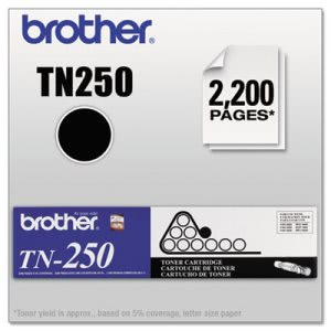 Brother TN250 Toner, 2200 Page-Yield, Black (BRTTN250)