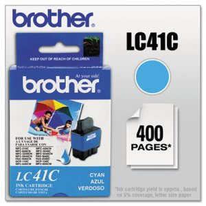 Brother LC41C Ink, 400 Page-Yield, Cyan (BRTLC41C)