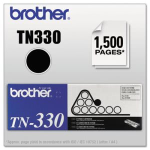 Brother TN330 Toner Cartridge, 1500 Page-Yield, Black (BRTTN330)