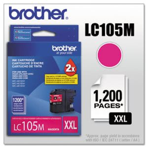 Brother LC105M Super High-Yield Magenta Ink, 1200 Page-Yield (BRTLC105M)