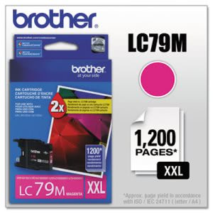 Brother LC79M Super High-Yield Ink, 1,200 Page-Yield, Magenta (BRTLC79M)