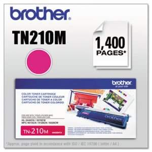 Brother TN210M Toner Cartridge, 1400 Page-Yield, Magenta (BRTTN210M)