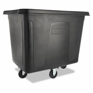 Rubbermaid 4616 Cube Truck, 500 lb. Capacity, Black (RCP 4616 BLA)