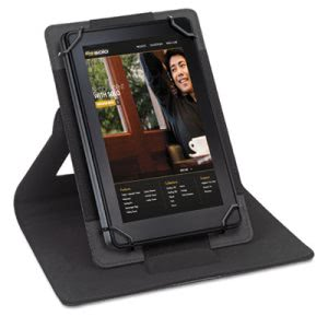 "Solo Tablet Case, Fits 6"" to 8.3"", Polyester Fabric, Black/Gray (USLSTM2224)"