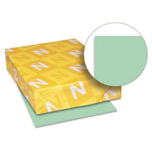 Wausau Paper Exact Index Card Stock, 90 lbs., 8-1/2 x 11, Green, 250 Sheets/Pack (WAU49161)