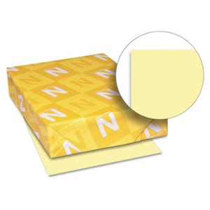 Wausau Paper Exact Index Card Stock, 90 lbs.,Canary, 250 Sheets/Pack (WAU49141)