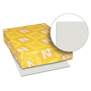 Wausau Paper Index Card Stock, 90 lbs., 8-1/2 x 11, Gray, 250 Sheets (WAU49191)