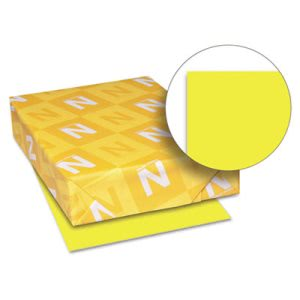 Astrobrights Card Stock, 8-1/2 x 11, Lift-Off Lemon, 250 Sheets (WAU21021)