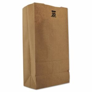 20# Tall Heavy-Duty Brown Kraft Paper Bags 500 per Bundle (BAG GX2060)