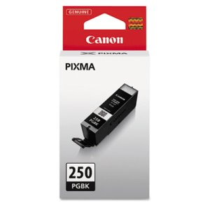 Canon 6497B001 Ink PGI-250, ChromaLife 100+, 300 Page-Yield, Black (CNM6497B001)