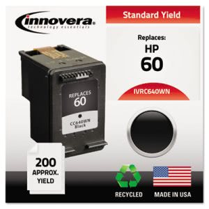 Innovera C640WN Compatible, Remanufactured, CC640WN (60) Ink, Black (IVRC640WN)