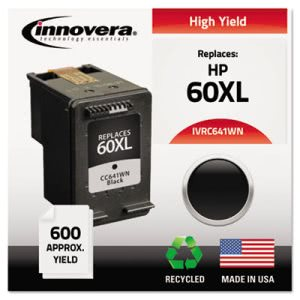 Innovera C641WN Compatible, Reman., CC641WN (60XL) Ink, Black (IVRC641WN)