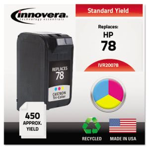 Innovera 20078 Compatible Remanufactured C6578DN (78) Ink, Tri-Color (IVR20078)