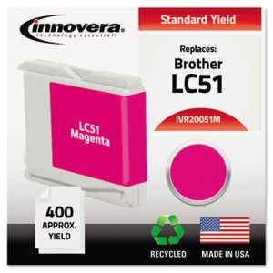 Innovera 20051M Compatible, Remanufactured, LC51M Ink, Magenta (IVR20051M)