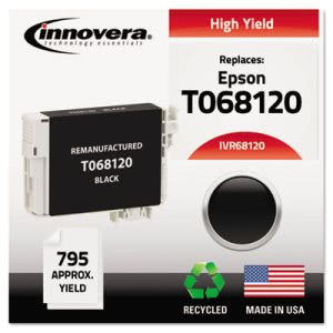 Innovera Compatible Remanufactured High-Yield T068120 (68) Ink, Black (IVR68120)
