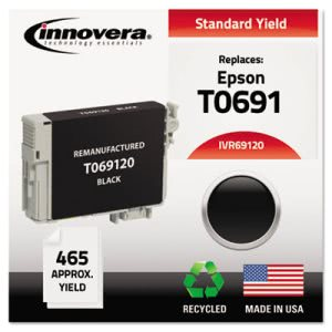 Innovera Remanufactured T069120 Ink Cartridge (69), Black (IVR69120)