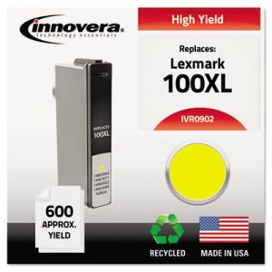 Innovera Remanufactured 14N0902 (100XL) Ink, Yellow (IVR0902)