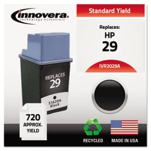 Innovera 2029A Compatible, Remanufactured, 51629A (29) Ink, Black (IVR2029A)
