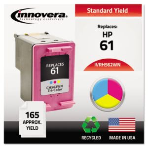 Innovera Compatible Remanufactured CH562WN (61) Ink, Tri-Color (IVRH562WN)