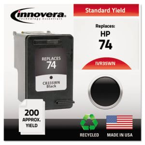 Innovera 35WN Compatible, Remanufactured, CB335WN (74) Ink, Black (IVR35WN)