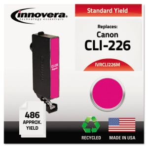 Innovera Compatible Remanufactured 4548B001 (CLI-226M) Ink, Magenta (IVRCLI226M)
